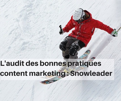 Audibonnes pratiques content marketing : Snowleader