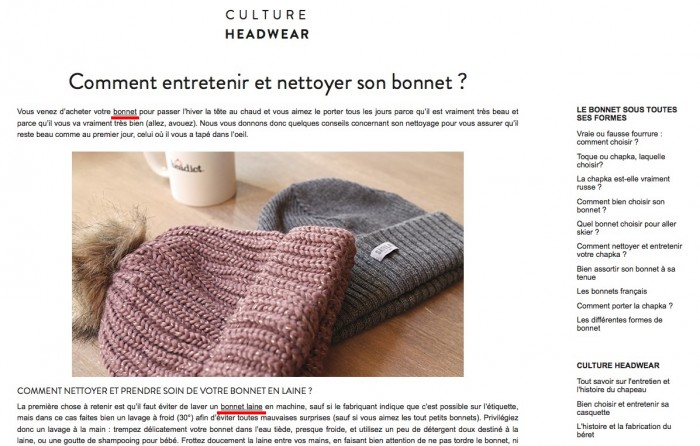 Bonnes pratiques content marketing : Headict