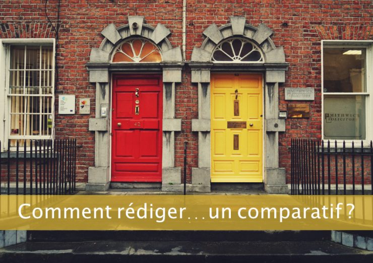 Rédiger un article comparatif