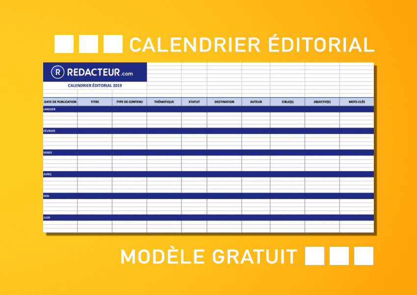 Calendrier Editorial Modele.Comment Creer Un Calendrier Editorial Modele Gratuit A