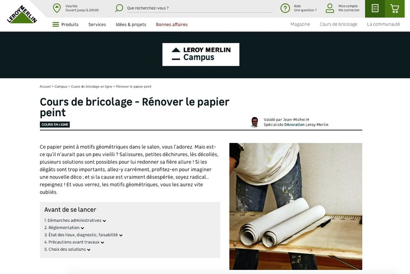 Cours bricolage Leroy Merlin