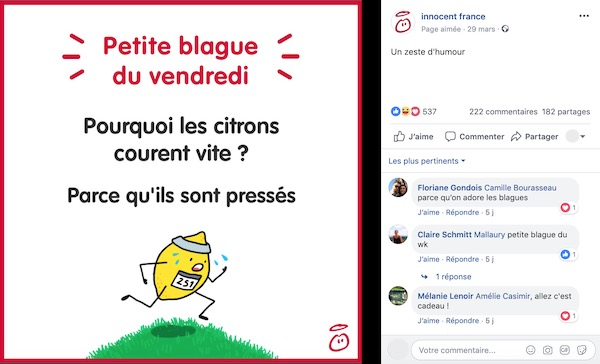 Post Facebook blague
