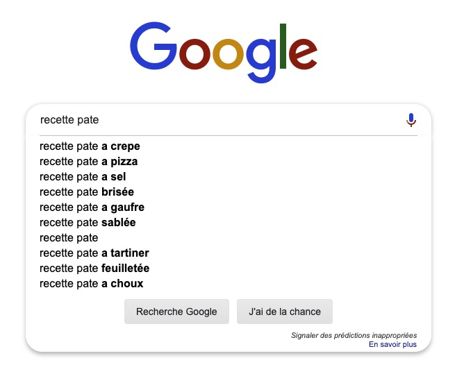 Autocomplétion Google