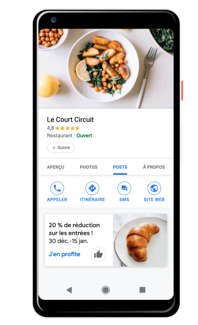 smartphone SEO local fiche my google