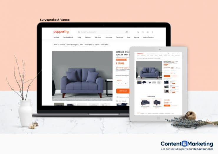 ecommerce page categorie