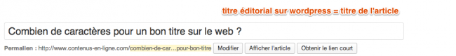 titre editorial wordpress